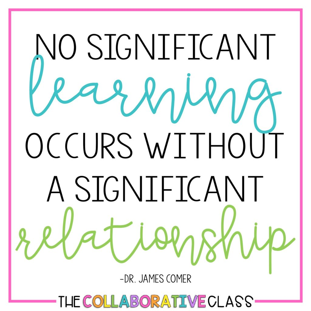 no significant learning occurs without a significant relationship