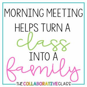 morning meeting family
