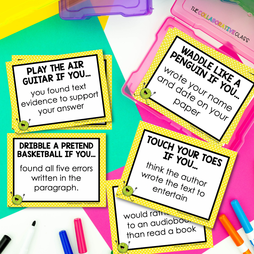 Make test prep fun with these conditional movement brain breaks