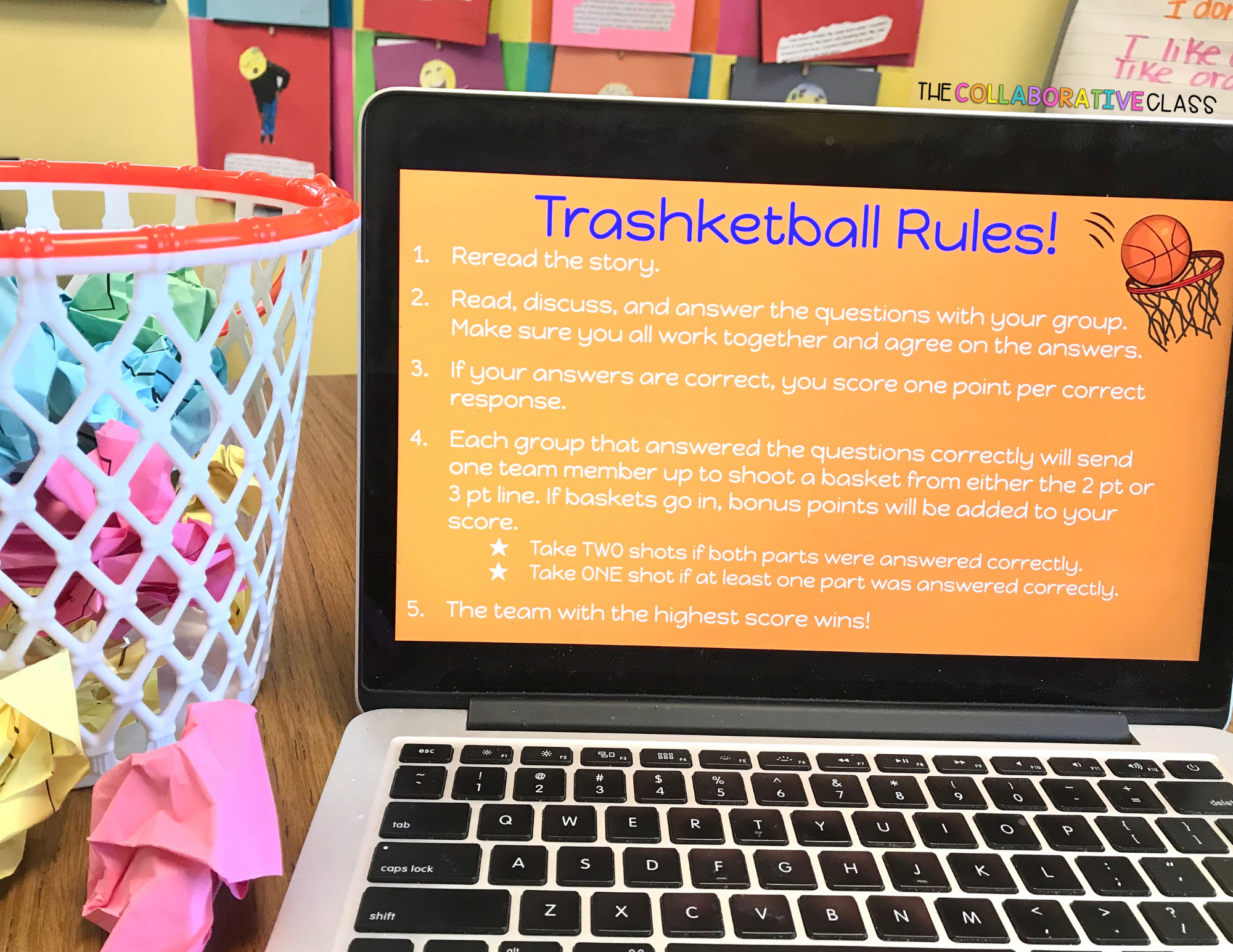 end of the year activities - trashketball
