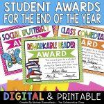 Student award certificates