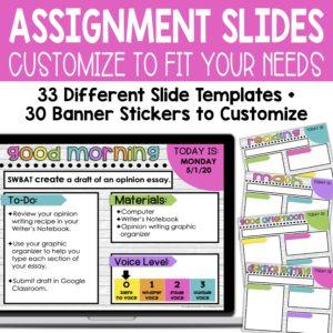 Assignment slides - customize