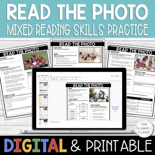 reading skills practice - read the photo