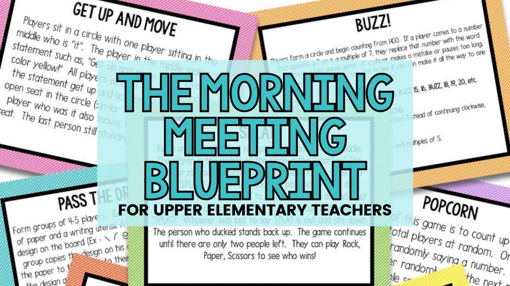 morning meeting for upper elementary