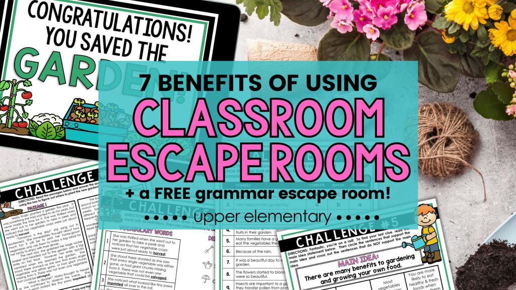 benefits of classroom escape rooms